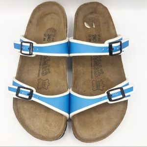 Birkenstock Birki's Tahiti Blue & White Sandals